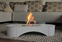 Smelless, smokeless decorative fireplace surround, fireplace frame which is removable
