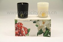 100% natural soy wax in frosted candle jars wholesale