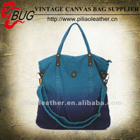 Blue Canvas Tote Bags Dip Dye/Canvas Handbags