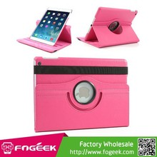 Fast Shipping 360 Degree Rotating Litchi Leather Stand Cover for iPad Air