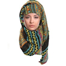 New products high quality 100 % polyester chiffon hijab scarf