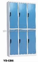 Blue Six Door Steel Locker/Steel Bedroom Lockers Cabinet for family/school/government in India market