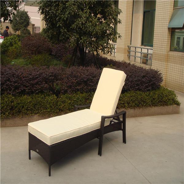simple de un solo al aire libre ratán muebles de jardín de sexo sillas chaise lounge