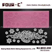 FOUR-C Silicone Lace Mat Sugar Craft Silicone Mould Baking Supplies