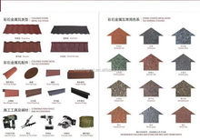 Cheapest top sell color coated metallic roof tiles