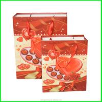 Yiwu Yilong Ribbon Handle Gift Packing Custom Printed Paper Bag