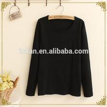 2015 caliente venta rollo negro largo atractivo vestido de suéter