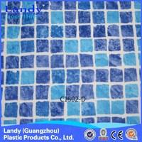 mosaic design plastic pool liner 1.5mm