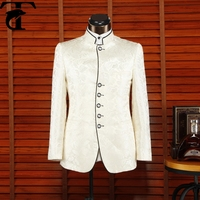 Top Branded Standing Collar Men Traditional Chinese Wedding Suit