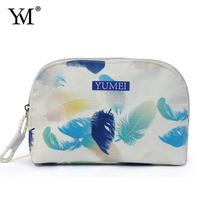 2015 Popular Wholesale Custom Promotional Travel Makeup custom flower toiletry bag for cosmetic