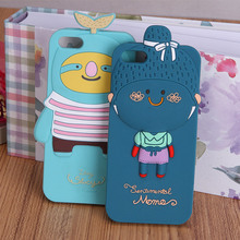 animal shape smart phone case silicone skin-touch material with cute shape