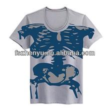 Fábrica 100% venta al por mayor camisetas en blanco Camisetas blancas con tu logo incluido