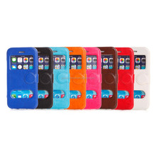 Crazy Horse Leather Double View Window Cover Case For iPhone 6 6 Puls