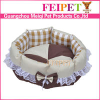 Fashion Floweral Round One-Piece Memory-Foam Bolster Dog Bed