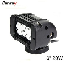 mini 20w 6 inch led light bar waterproof for offroad/SUV/ATV/UTV/Jeep/Boat