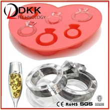 Creative Love ring silicone Ice tray ice mold