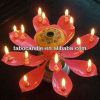 fancy birthday candles/flower singing birthday candle