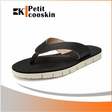 Latest design slippers footwear men causual leather fashion slipper