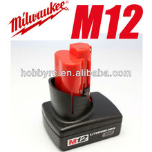 Milwaukee battery 48-11-2402 M12 XC RED Lithium-Ion Cordless Tool Battery HIGH CAPACITY