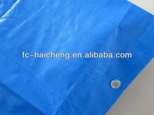 Recycled sky blue pe tarpaulin for tent/truck/ship/camping