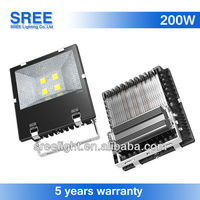 New led flood light 200w outdoor floodlight directional luminaire led proyecto