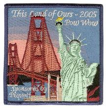 Personalizada la estatua de la libertad de seguridad remiendo del bordado bordado de parches