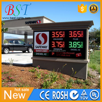 Easy install high quality with high brightness LEDs Gas Price Changer Signs