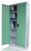 Simple design office furniture 2 door steel filing storage cabinet