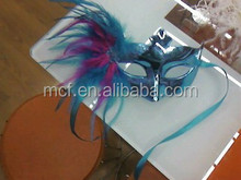 Party carnival decoration cheap feather masquerade venetian mask MSK206