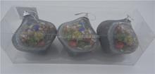 onion shaped Christmas paper wrapped foam ball, cute baby and gifts