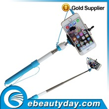New Design Stainless steel and ABS Material cable take pole selfie stick