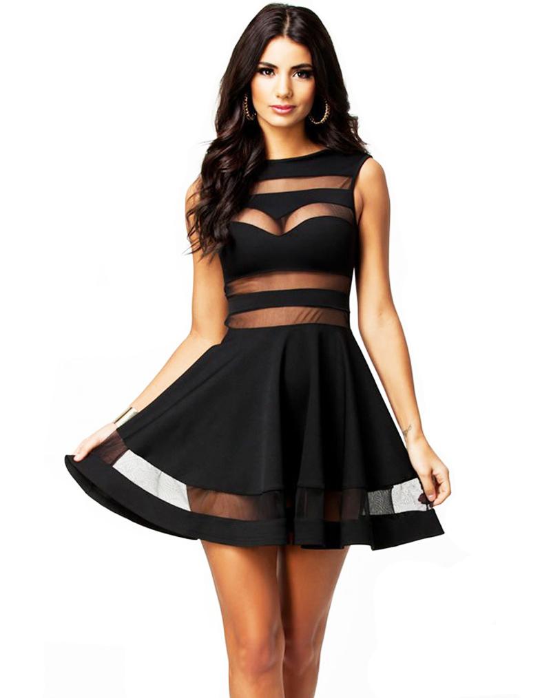 Черные короткие вечерние платья