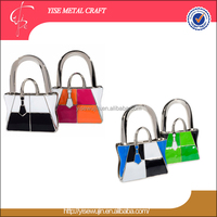Novelty Gift Colored Handbag with Necktie Design Metal Handbag Hanger Stand