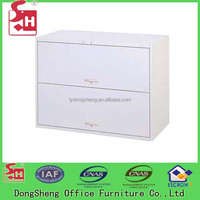 2 Lateral Drawers, Modern Office Furniture Free Standing Steel Drawer Cabinet