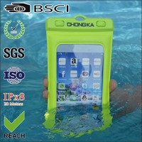 Fashion clear plastic waterproof mobile phone bag with sling