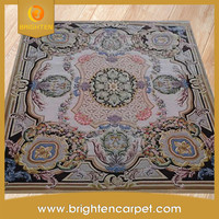 hand tufted Chinese wool carved rug