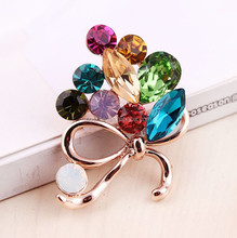 Rhinestone Crystal brooch pin,romantic flower brooches,magnetic Diamond brooches BRC-0149