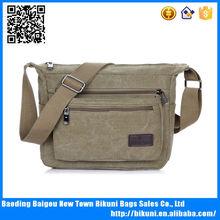New design best selling khaki shoulder bag college shoulder bag with comfortable wide strap