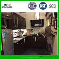apartment kitchen countertop material man made pure black engineered quartz stone