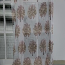 New arrival printed curtain design hotel polyester sheer chiffon drapery for decor