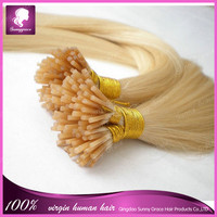 Brazilian remy human hair Natural keratin Capsule Prebonded I tip hair extension 1g/strand straight blond color #613 hair weaves
