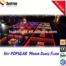 2015 Popular Thailand 3D full color led dance floor for hire