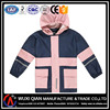 Pu coated rain coat for children students with pants,rain suit for kids,boys and girls rain jacket