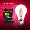 Glass House A60 2W 4W 6W 8w CE RoHS E27 B22 Led Filament Bulb