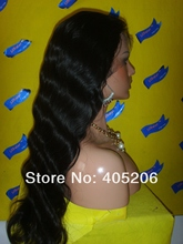 2015 Unprocessed indian women Human hair full lace wigs 6A grade natural looking natural body wave human hair full lace wig