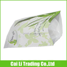 tea packing stand up resealable plastic package