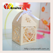 Custom Laser Cut Wedding cake Box 100pieces/lot laser cut wedding party supply favors candy gift packaging boxes