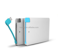 Portable Smart power bank 2000mah polymer or li-ion external battery charger OEM gifts power bank