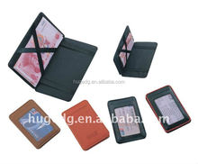 Fashion mini top quality pu leather magic wallet with elastic strap