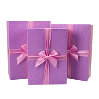 Pink shinny paper material gift boxes for birthday gift packaging